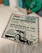 """Trucker - I'm Not Close by - Fleece Blanket Small Fleece Blanket - 30"""" x 40"""" aos-coral-fleece-blanket-30x40-lifestyle-front-07"""