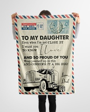 """Trucker - I'm Not Close by - Fleece Blanket Small Fleece Blanket - 30"""" x 40"""" aos-coral-fleece-blanket-30x40-lifestyle-front-14"""