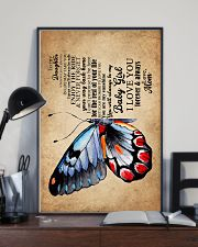 POSTER - TO MY DAUGHTER - BUTTERFLY - WHEREVER 16x24 Poster lifestyle-poster-2