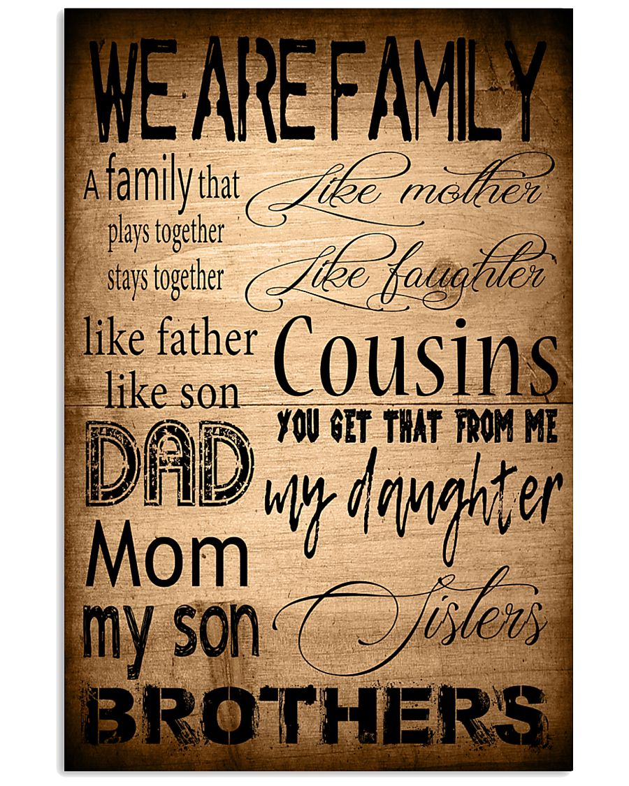 WE ARE FAMILY 16x24 Poster