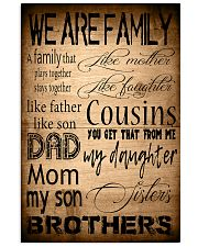 WE ARE FAMILY 16x24 Poster front