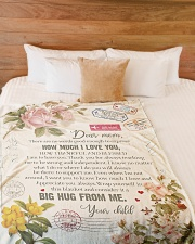 """To My Mom - There Are No Words Good Enough  Large Fleece Blanket - 60"""" x 80"""" aos-coral-fleece-blanket-60x80-lifestyle-front-02"""