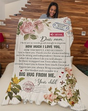 """To My Mom - There Are No Words Good Enough  Large Fleece Blanket - 60"""" x 80"""" aos-coral-fleece-blanket-60x80-lifestyle-front-04"""