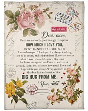 """To My Mom - There Are No Words Good Enough  Large Fleece Blanket - 60"""" x 80"""" front"""