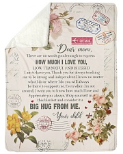 """To My Mom - There Are No Words Good Enough  Large Sherpa Fleece Blanket - 60"""" x 80"""" thumbnail"""