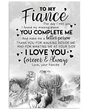 POSTER - TO MY FIANCE' - DEER - THE DAY I MET YOU 16x24 Poster front
