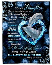 To My Daughter - Dolphin - If There Is A Tomorrow  Fleece Blanket tile