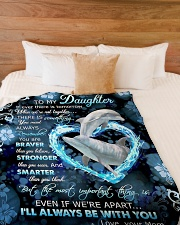 """To My Daughter - Dolphin - If There Is A Tomorrow  Large Fleece Blanket - 60"""" x 80"""" aos-coral-fleece-blanket-60x80-lifestyle-front-02"""
