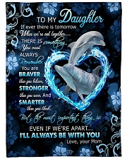 """To My Daughter - Dolphin - If There Is A Tomorrow  Large Fleece Blanket - 60"""" x 80"""" front"""