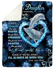 """To My Daughter - Dolphin - If There Is A Tomorrow  Large Sherpa Fleece Blanket - 60"""" x 80"""" thumbnail"""