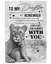 DAUGHTER - LION WHENEVER YOU FEEL OVERWHELMED 16x24 Poster front