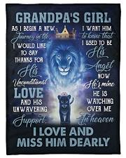 """Angel Grandpa - He Is Watching Over Me In Heaven  Small Fleece Blanket - 30"""" x 40"""" front"""