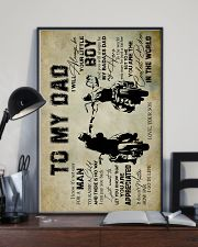 To My Dad - Motorbike  16x24 Poster lifestyle-poster-2