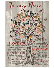 TO MY NIECE 16x24 Poster front
