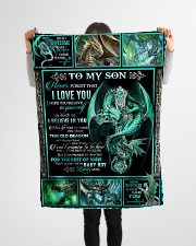"""Dragon - Son - This Old Dragon Will Always Have  Small Fleece Blanket - 30"""" x 40"""" aos-coral-fleece-blanket-30x40-lifestyle-front-14"""