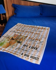 """Grandma to Granddaughter - My Love For You Small Fleece Blanket - 30"""" x 40"""" aos-coral-fleece-blanket-30x40-lifestyle-front-02"""