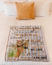 """Grandma to Granddaughter - My Love For You Small Fleece Blanket - 30"""" x 40"""" aos-coral-fleece-blanket-30x40-lifestyle-front-04"""