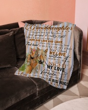 """Grandma to Granddaughter - My Love For You Small Fleece Blanket - 30"""" x 40"""" aos-coral-fleece-blanket-30x40-lifestyle-front-05"""
