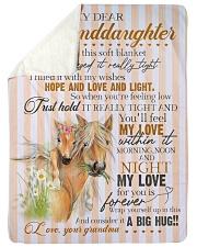 "Grandma to Granddaughter - My Love For You Large Sherpa Fleece Blanket - 60"" x 80"" thumbnail"