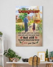 To My Daughter - Out Home Ain't No Castle 20x30 Gallery Wrapped Canvas Prints aos-canvas-pgw-20x30-lifestyle-front-03