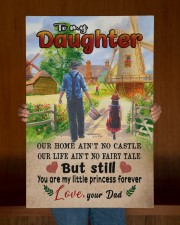 To My Daughter - Out Home Ain't No Castle 20x30 Gallery Wrapped Canvas Prints aos-canvas-pgw-20x30-lifestyle-front-22