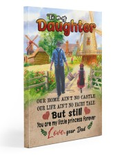 To My Daughter - Out Home Ain't No Castle 20x30 Gallery Wrapped Canvas Prints front