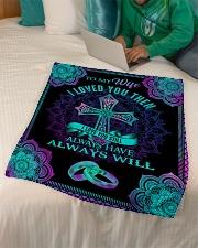 "Mandala - I Loved You Then - Fleece Blanket Small Fleece Blanket - 30"" x 40"" aos-coral-fleece-blanket-30x40-lifestyle-front-07"