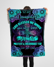 """Dad To Daughter - God Blessed Me - Fleece Blanket Small Fleece Blanket - 30"""" x 40"""" aos-coral-fleece-blanket-30x40-lifestyle-front-14"""