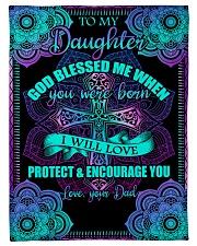 "Dad To Daughter - God Blessed Me - Fleece Blanket Small Fleece Blanket - 30"" x 40"" front"