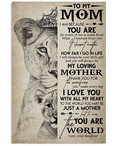 TO MY MOM - LION - MY LOVING MOTHER