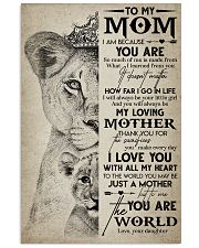 TO MY MOM - LION - MY LOVING MOTHER 16x24 Poster front