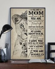 TO MY MOM - LION - MY LOVING MOTHER 16x24 Poster lifestyle-poster-2