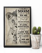 TO MY MOM - LION - MY LOVING MOTHER 16x24 Poster lifestyle-poster-8