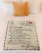 """Gift For Grandson - Fleece Blanket Small Fleece Blanket - 30"""" x 40"""" aos-coral-fleece-blanket-30x40-lifestyle-front-04"""