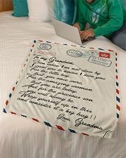 """Gift For Grandson - Fleece Blanket Small Fleece Blanket - 30"""" x 40"""" aos-coral-fleece-blanket-30x40-lifestyle-front-07"""
