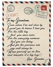 """Gift For Grandson - Fleece Blanket Small Fleece Blanket - 30"""" x 40"""" front"""