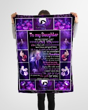 """Mom To Daughter - Life Is Filled With Hard Times Small Fleece Blanket - 30"""" x 40"""" aos-coral-fleece-blanket-30x40-lifestyle-front-14"""