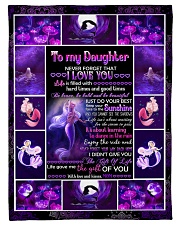 """Mom To Daughter - Life Is Filled With Hard Times Small Fleece Blanket - 30"""" x 40"""" front"""