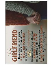 TO MY GIRLFRIEND - HAND IN HAND - I LOVE YOU 16x24 Poster front