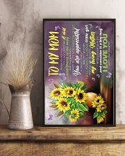 To My Mom - Sunflower - Poster 16x24 Poster lifestyle-poster-3