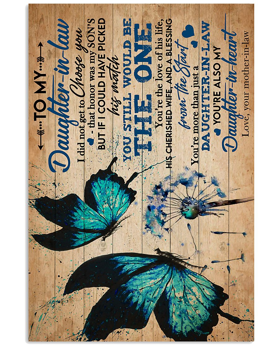 To My Daughter-in-law - Butterfly - Dandelion 16x24 Poster