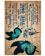 To My Daughter-in-law - Butterfly - Dandelion 16x24 Poster front