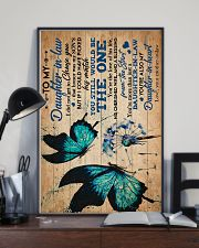 To My Daughter-in-law - Butterfly - Dandelion 16x24 Poster lifestyle-poster-2
