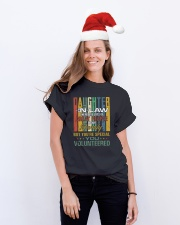 Daughter-in-law - Vintage - You Volunteered Classic T-Shirt lifestyle-holiday-crewneck-front-1