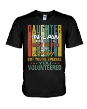 Daughter-in-law - Vintage - You Volunteered V-Neck T-Shirt thumbnail