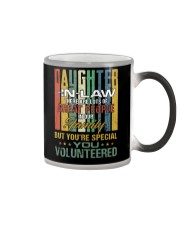 Daughter-in-law - Vintage - You Volunteered Color Changing Mug thumbnail