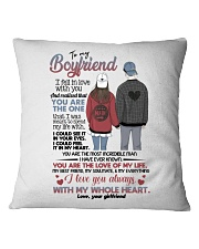 TO MY BOYFRIEND Square Pillowcase thumbnail