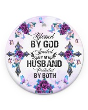 Cross - Blessed By God - Circle Ornament Circle ornament - single (porcelain) front