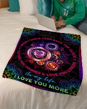 """Wife - Clock - I Wish I Could Turn Back The Clock Small Fleece Blanket - 30"""" x 40"""" aos-coral-fleece-blanket-30x40-lifestyle-front-07"""