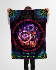 """Wife - Clock - I Wish I Could Turn Back The Clock Small Fleece Blanket - 30"""" x 40"""" aos-coral-fleece-blanket-30x40-lifestyle-front-14"""